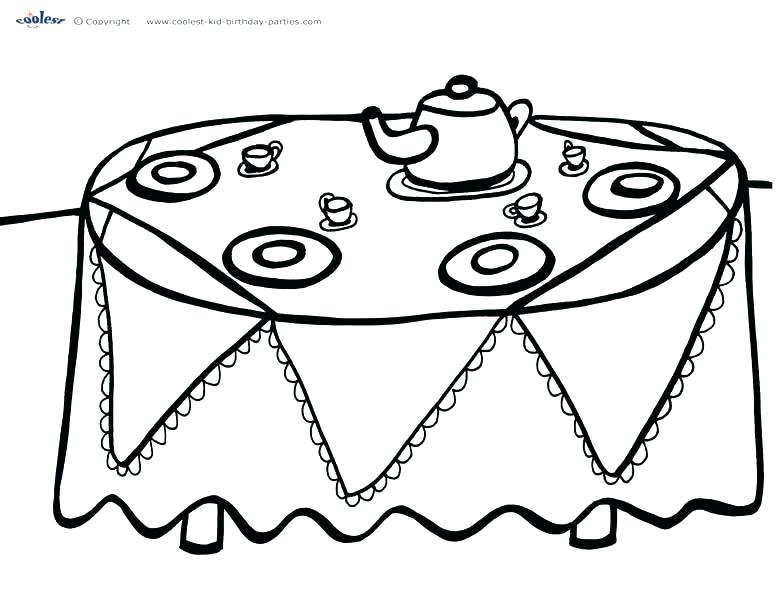 777x600 Party Coloring Pages