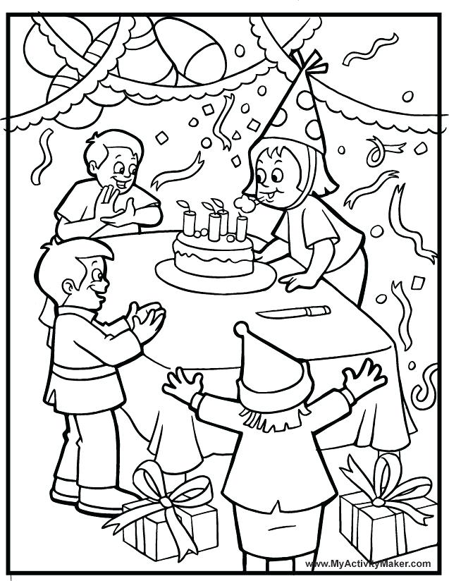 637x824 Party Coloring Pages Birthday Color Pages Hello Kitty Birthday