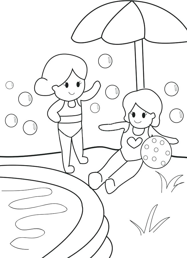 655x900 Pool Coloring Pages Click To See Printable Version Of Is Swimming