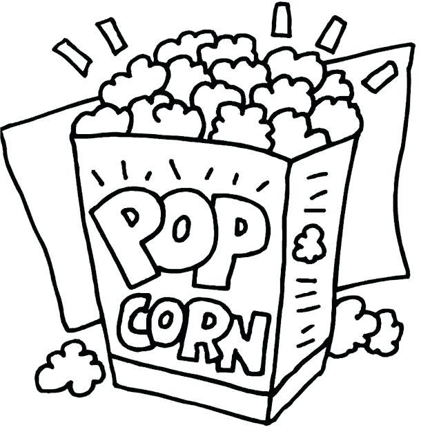 610x625 Pop Art Coloring Pages Pop Art Coloring Pages Popcorn Cooking
