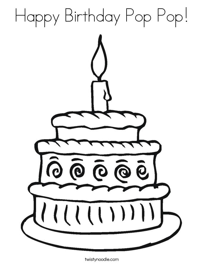 685x886 Happy Birthday Pop Pop Coloring Page