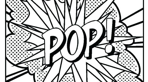 500x280 Free Pop Art Coloring Pages Art Coloring Pages Printable Pop Art