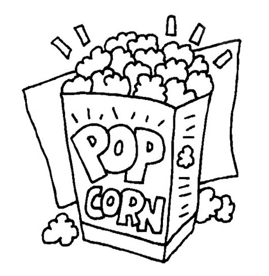 Popcorn Coloring Pages Printable At Getdrawings Free Download