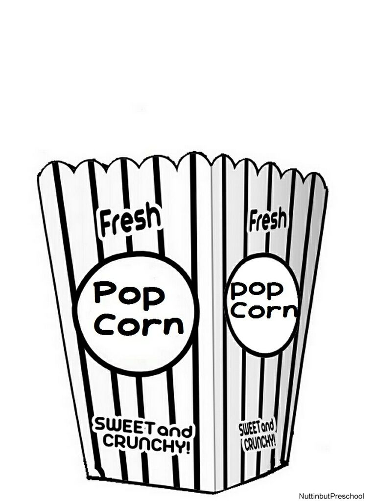 768x1024 Popcorn Coloring Pages Sheet Printable