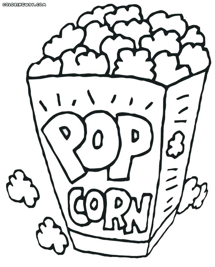 736x914 Popcorn Kernel Coloring Page Match The Kernel Popcorn Maze Corny