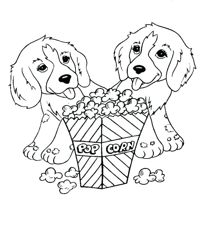 728x778 Ice Cream Girl Coloured Popcorn Kernels Coloring Pages Of Cartoon