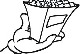 273x183 Popcorn Coloring Page Pages Image Concept Free Printable Chips Box