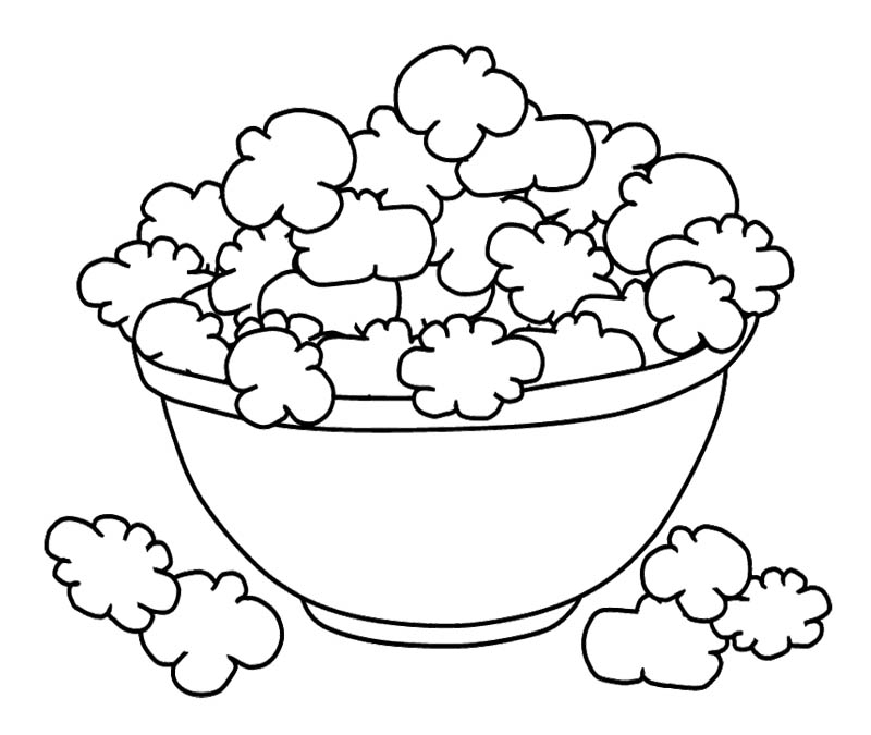 800x675 Popcorn Coloring Pages