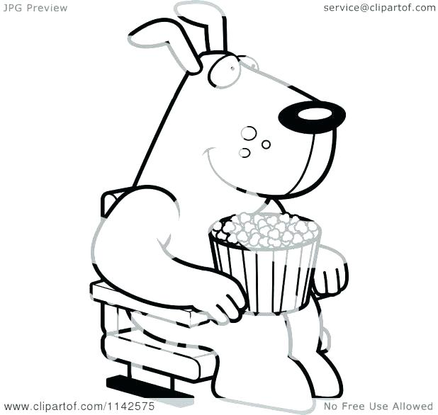 618x586 Box Coloring Page Ice Cream Girl Coloured Popcorn Kernels Coloring