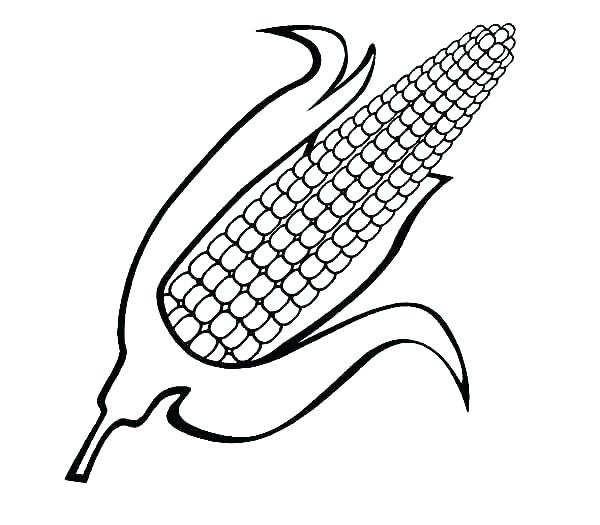 600x525 Popcorn Kernel Coloring Page Popcorn Kernel Coloring Page Awesome