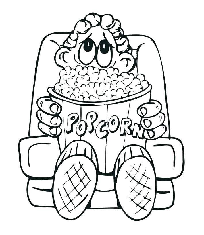 710x820 Popcorn Kernel Coloring Page Popcorn Kernel Coloring Page Popcorn