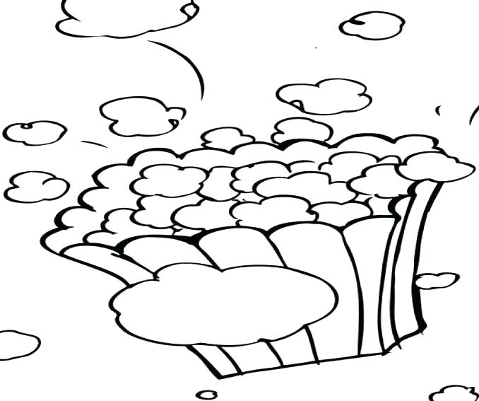 678x567 Popcorn Kernel Coloring Page Two Little Dog Eating Popcorn