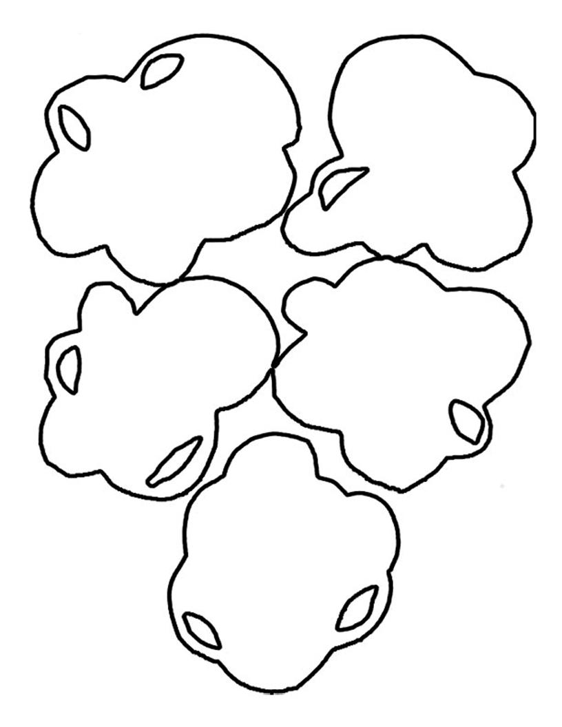 816x1056 Printable Popcorn Kernel Clip Art