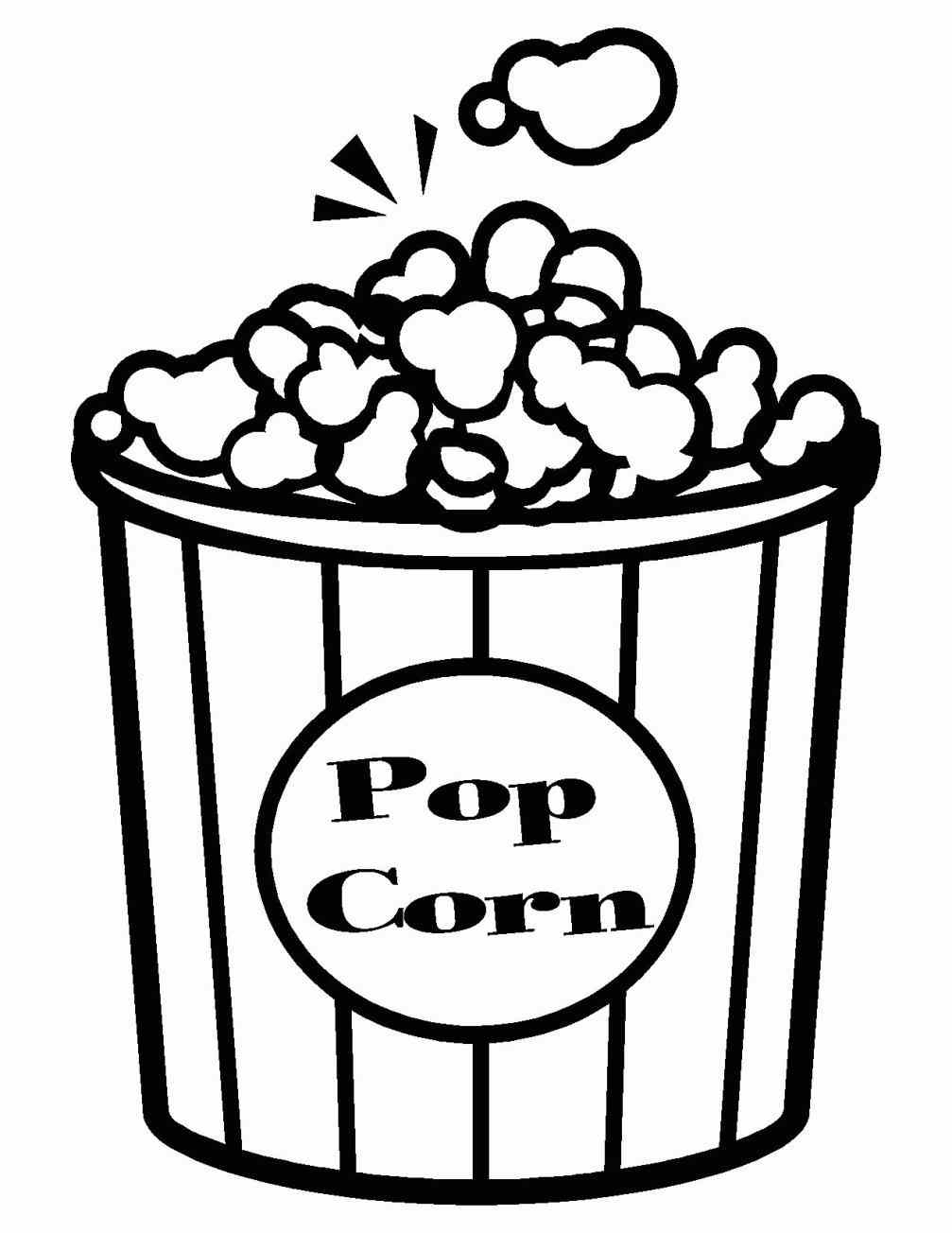 1007x1304 Professional Popcorn Coloring Sheet Pages Printable