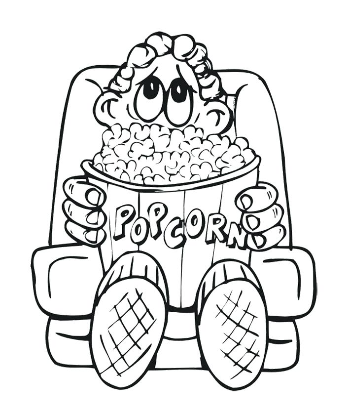 710x840 Coloring Pages To Download And Print For Free Popcorn Coloring