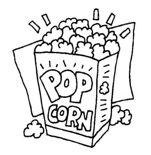 530x544 Coloring Popcorn Happy Popcorn Day Coloring Page Green Popcorn