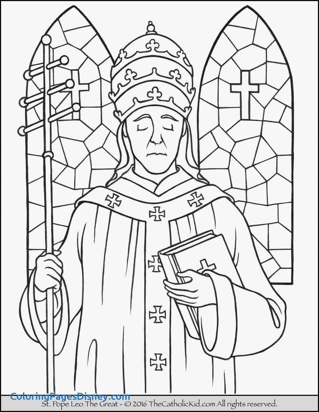 1275x1650 Saint Peter Coloring Pages Fresh Saint Pope Leo The Great Coloring