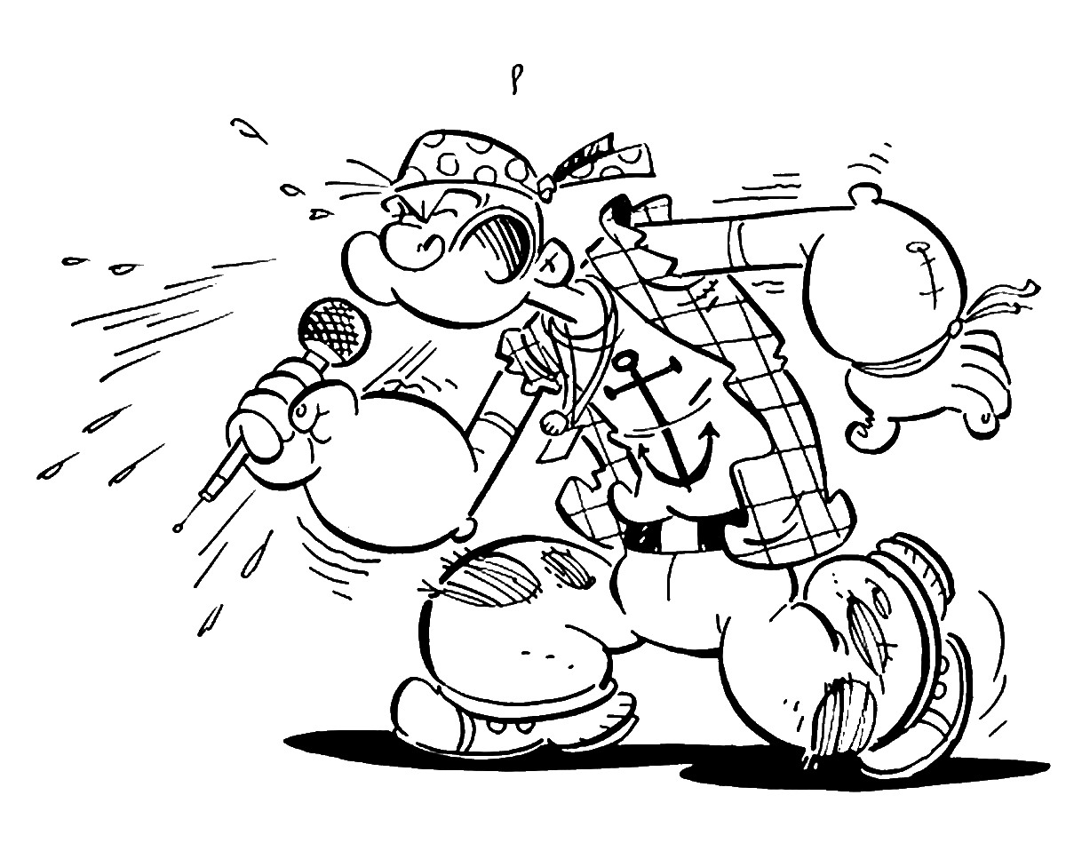 Popeye Cartoon Coloring Pages