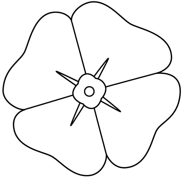 600x586 Poppy Coloring Page Poppy Coloring Pages How To Draw Poppy