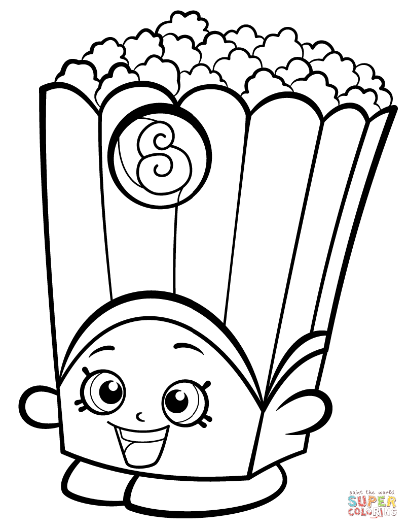 805x1042 Poppy Coloring Pages Poppy Corn Shopkin Coloring Page
