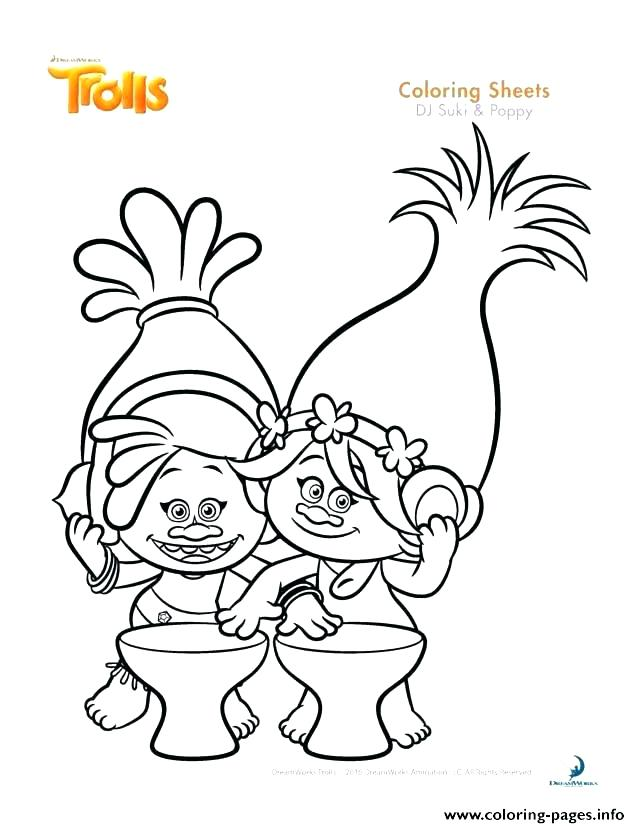 640x828 Poppy Coloring Pages Trolls Baby Poppy Coloring Pages Gallery