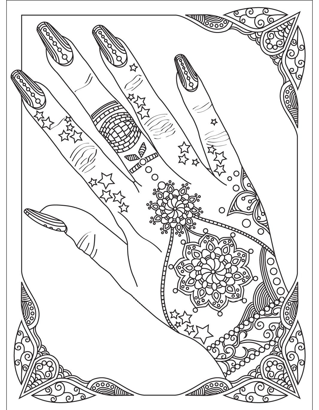 1066x1369 Awesome Nails Colorish Coloring Book App For Adults