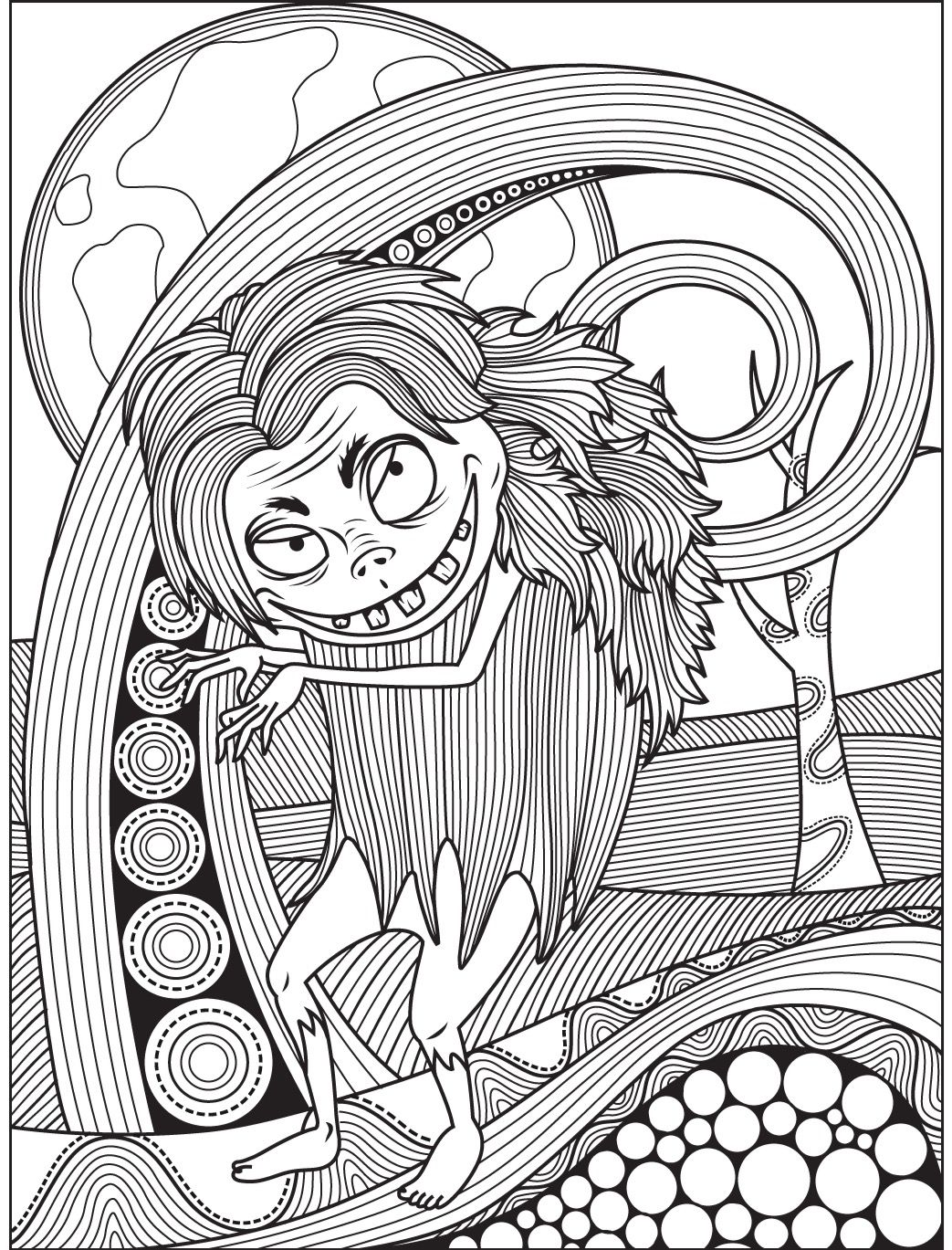1043x1369 Best Halloween Coloring Page Colorish App For Adults Pict