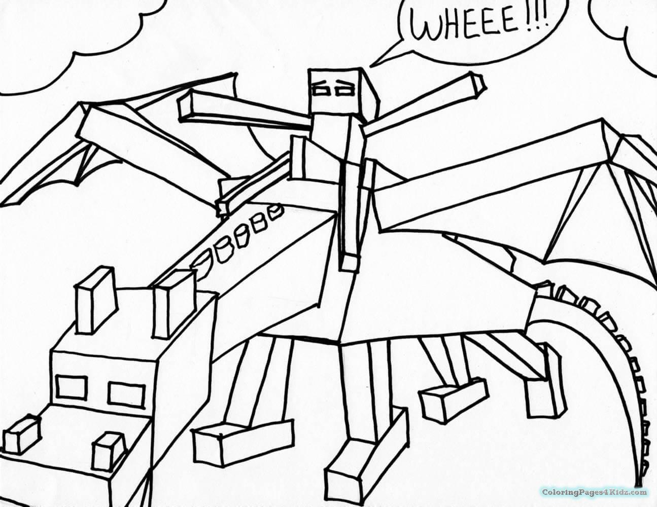 1295x1000 Minecraft Coloring Pages Ender Dragon