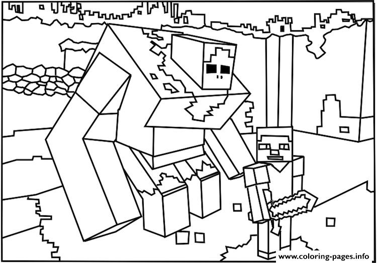 750x524 Printable Minecraft Coloring Pages