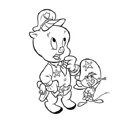 Porky Pig Coloring Pages
