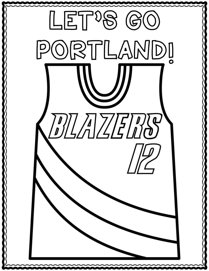 Portland Trail Blazers Coloring Pages