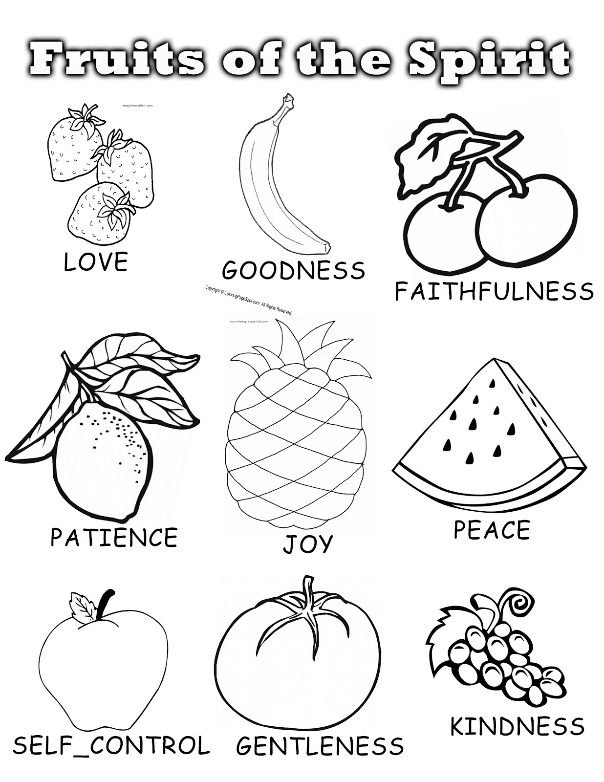 1236x1600 Elegant Fruit Of The Spirit Coloring Page In Free Book