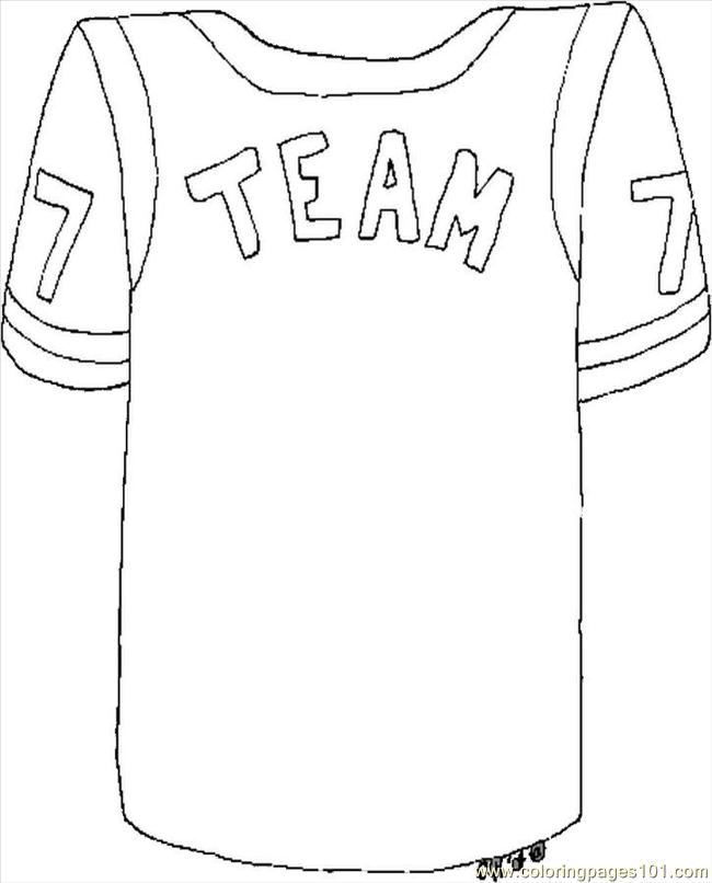 650x806 Football Jersey Coloring Pages Printable