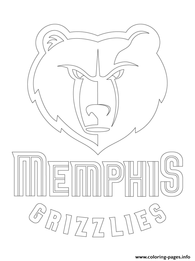 640x853 Memphis Grizzlies Logo Nba Sport Coloring Pages Printable