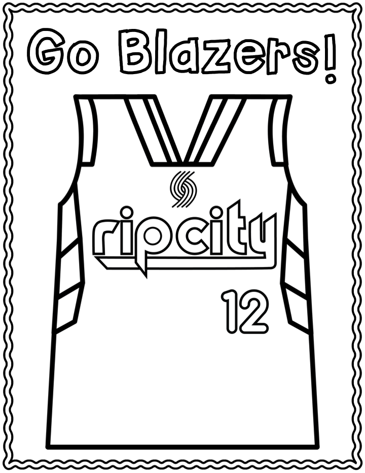 720x932 Nba Playoff Portland Trailblazers Coloring Page Kindergarten Art