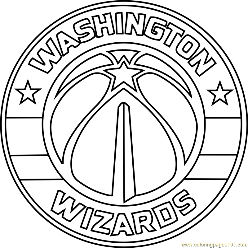 800x797 Washington Wizards Coloring Page