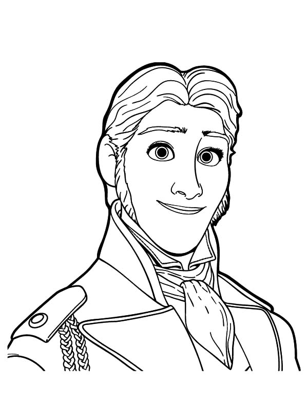 600x776 Portrait Of Prince Hans Coloring Pages Portrait Of Prince Hans