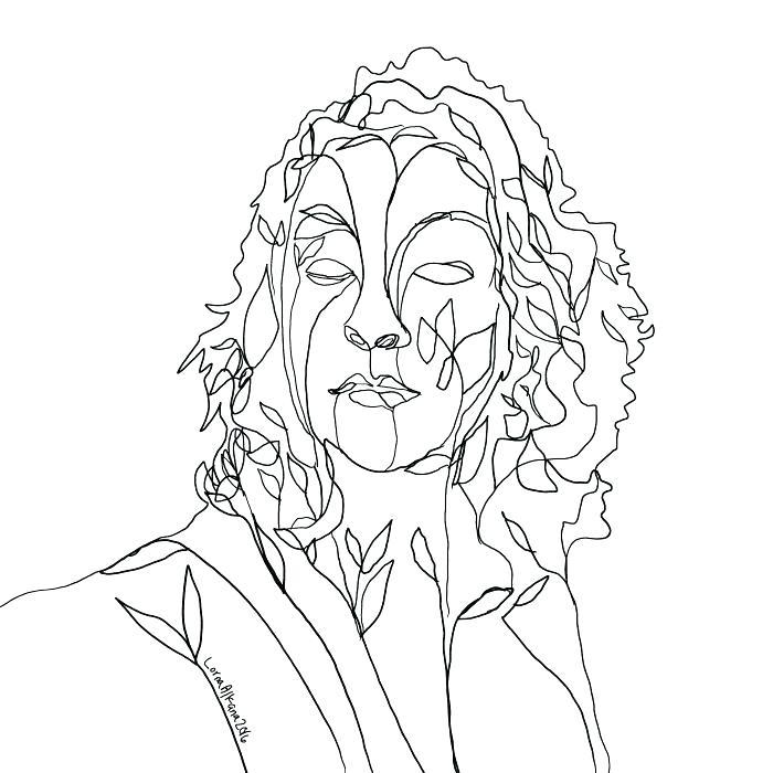 700x700 Self Portrait Coloring Page Self Portrait Coloring Page Coloring