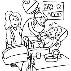 300x300 Dentist Coloring Pages