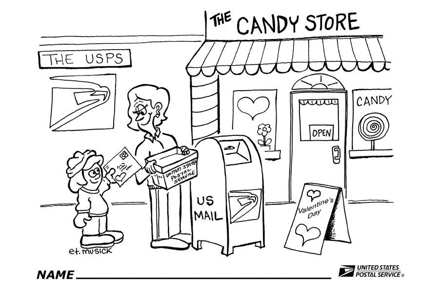 900x600 Post Office Coloring Pages