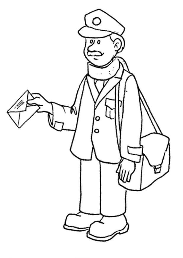 618x874 Postman Coloring Page Post Office School