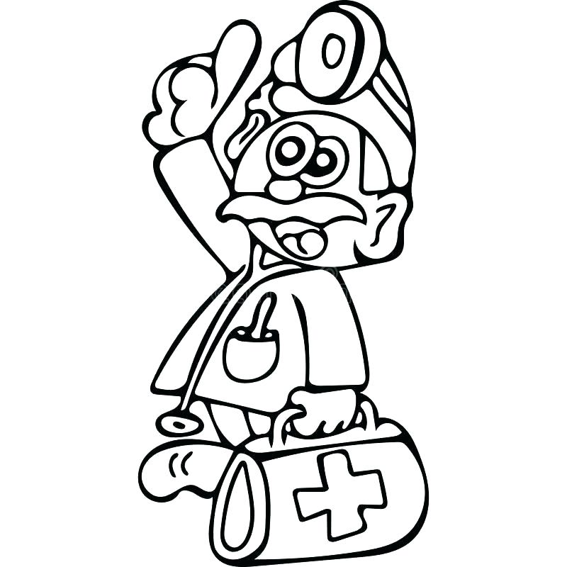 800x800 Coloring Pages Doctor Doctor Tools Coloring Page Doc Colouring
