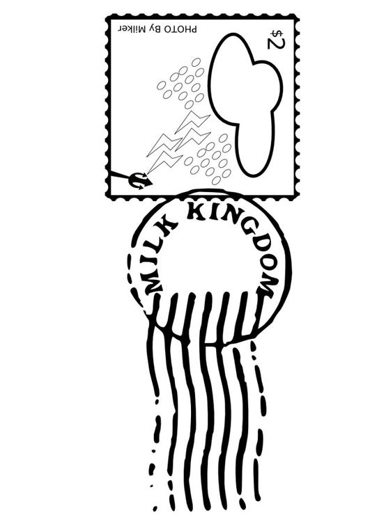 531x750 Coloring Page Stamped Postage Stamp