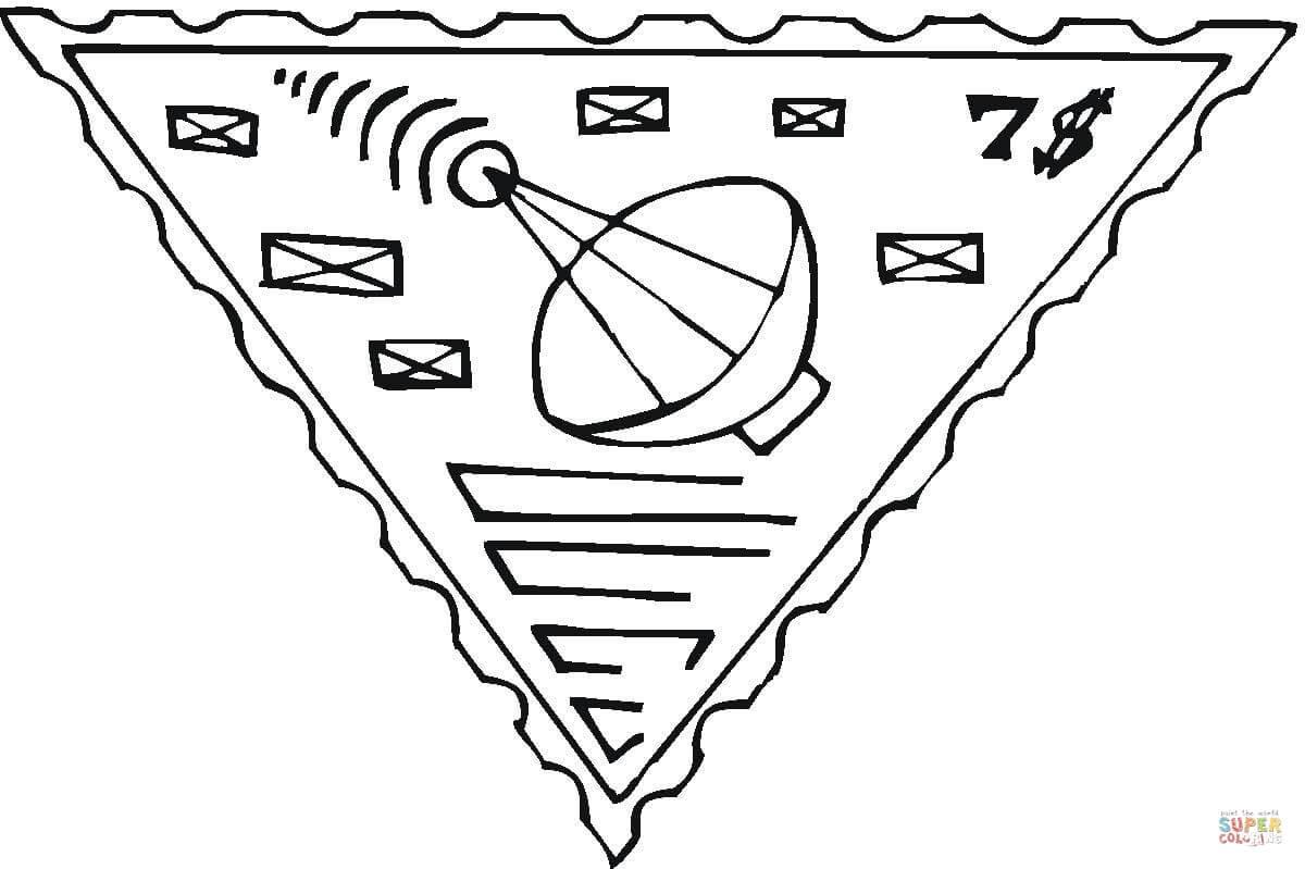 1200x799 Radio Telescope Postage Stamp Coloring Page Free Printable