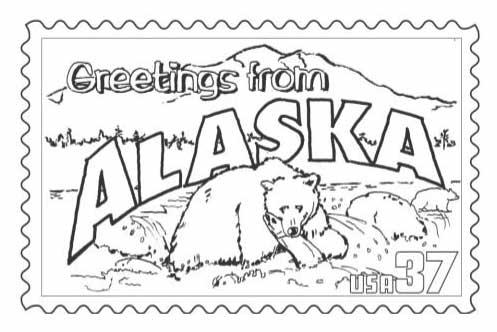 497x332 Alaska State Stamp Page Classbrain's State Reports State