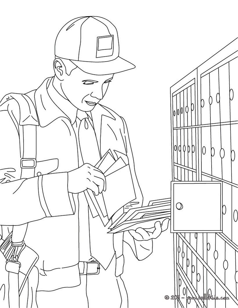 Postal Coloring Pages