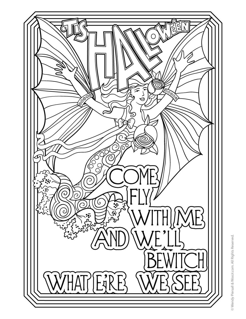 1000x1294 Halloween Adult Coloring Pages Vintage Postcards, Adult Coloring