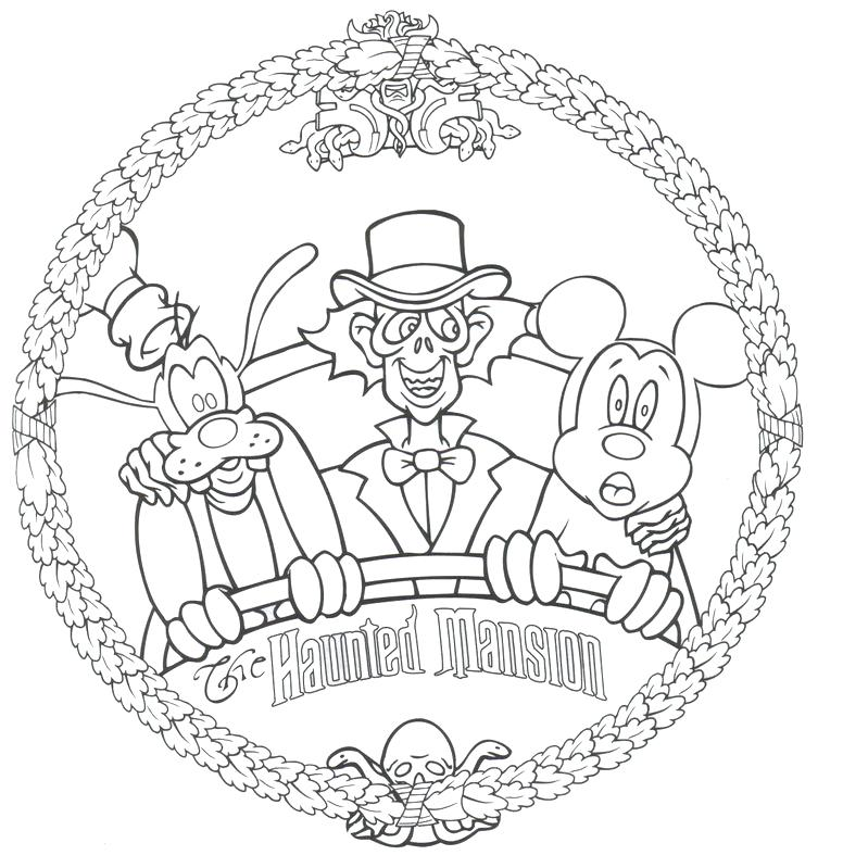 776x799 Haunted Mansion Coloring Pages Free Coloring Pages And Postcards