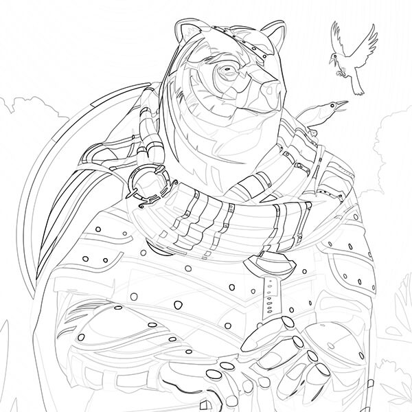 600x600 Orkney Coloring Pages