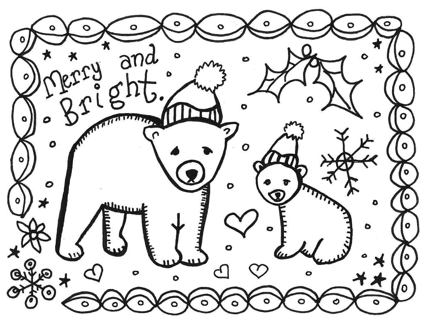 1459x1110 Printable Coloring Cards For Christmas Throughout